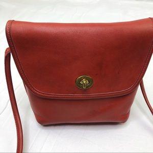 Coach Vintage Red Quincy Crossbody Bag 9919